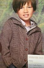 Boys Rugged Cable Jacket ( 4 -12 years) Knitting Pattern