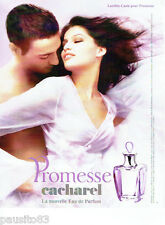 PUBLICITE ADVERTISING 046  2006  Cacharel  parfum Promesse & Laetitia Casta