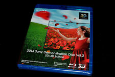 New Sony 4K Ultra HD&3D TV Demo Blu Ray Disc 2013 V2(Ok w/Samsung,LG) Very Rare!