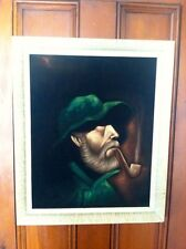 "Vintage Oil Painting"" The Sea Captain""Framed Nice!"