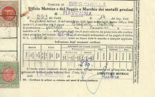 Ufficio Metrico e del Saggio e Marchio dei Metalli Preziosi di Ravenna 1952