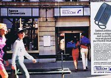 Publicité Advertising 016 1989 France Télécom   (2 pages)