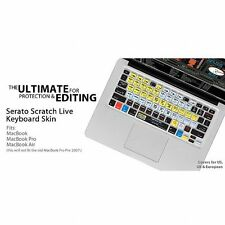 KB Covers Serato Scratch Live Keyboard Shortcut Cover For Apple Mac MacBook M...