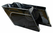 "Mutazu Stretched Extended Saddlebags 4"" Fit Harley FLH FLT Touring Bases 94-2013"