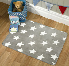 Flair Rugs Nursery Print Stars Childrens Rug, Grey, 70 x 100 Cm