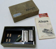 Vintage Allegro MOD L Rare Swiss Blades Safety Razor Sharpener + BOX Fritz Schar