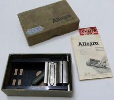 Vintage Allegro MOD L Rare Swiss Blades Safety Razor Sharpener + BOX Fritz Schar