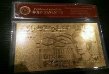 50 libbra 24k ORO METALLIZZATO Lingotti BAR UK STOCK
