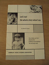 """VTG 1950's """"SEX EDUCATION"""" Booklet for Elementary SCHOOLS~Marriage~NARRATIVE~"""