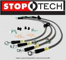 [FRONT + REAR SET] STOPTECH Stainless Steel Brake Lines (hose) STL27938-SS 6 LUG