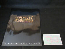Ozzy Osbourne 1991 Japan Tour Book with Ticket Stab Black Sabbath Zakk Wylde
