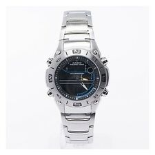 Casio AMW703D-1A Men's Fishing Gear Timer Analog-Digital Stainless Steel Watch