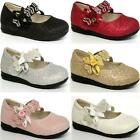 GIRLS WEDDING SHOES BABIES INFANTS PARTY BRIDESMAID FANCY VELCRO BABY SHOES SIZE