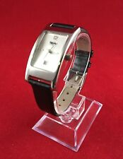 MOSSIMO WOMEN'S CASUAL WATCH WITH BLACK LEATHER BAND MM9011QS