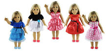 """New style 5 Set Doll Clothes For 18""""American Girl Doll Fashion Princess Dress"""