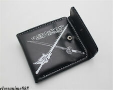 Anime Sword Art Online Leather wallet Button Holder Layers cosplay Purse C style