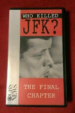 Who Killed JFK ? The Final Chapter: Rare OOP VHS; 1993; John F Kennedy, CBS News