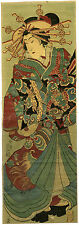 "Stunning KUNISADA III Japanese woodblock print  ""COURTESAN WITH THE DRAGON OBI"""