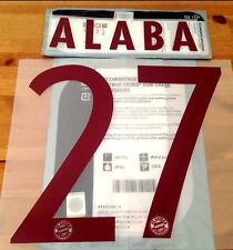 2016-17 Bayern UCL 3rd Away Shirt ALABA#27 SportingiD Soccer Name Number Set