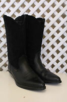 Vintage ankle leather western Wrangler 80s flat cowboy hippy 70s pixie boots 5