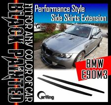 CARKING GLOSSY BLACK PAINTED 06-09 BMW E90 M3 PERFORMANCE SIDE SKIRTS EXTENSION