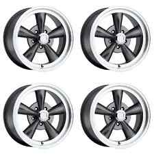 "Set Of 4 17"" Vision 141 Legend 5 Gunmetal Rims 17x9 5x4.5 0mm Chevy Lifted 6 Lug"