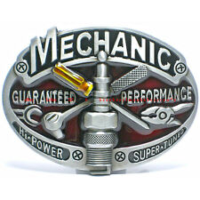 BBU0948 MECHANIC GUARANTEED PERFORMANCE HI POWER SUPER TUNED TOOLS BELT BUCKLE