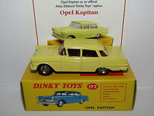ATLAS DINKY OPEL KAPITAN YELLOW 177 MODEL CAR