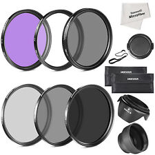 Neewer 58MM Lens Filter Accessory Kit For Canon EOS Rebel T5i Other Camera Lens