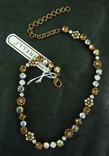 NWT SORRELLI TOPAZ OPAL CRYSTAL NECKLACE GOLD FINISH NBE2AGAMA Retail $170
