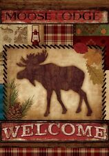 "Welcome Moose Garden Flag Small 18"" x 12"""