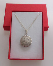 ROUND VINTAGE PHOTO LOCKET STAMPED STERLING SILVER & CHAIN WITH 925 TAG