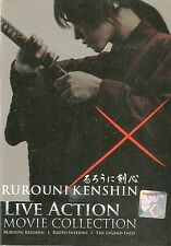 Japan Live Action DVD Samurai Rurouni Kenshin Collection 3 Movies in Box Set
