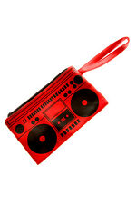 Loungefly - Boombox Clutch Purse Coin Bag Pencil Case Red