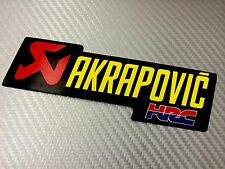 1 Adesivo Sticker AKRAPOVIC HRC Alte Temperature High Temperatures Exhaust