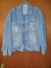 RARE Mens Akademiks Jean Jacket denim accents L-Large