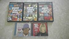 3 PS2 Grand Theft Auto & 2 Grand Theft CD's-San Andreas-Vice City-GTA3.