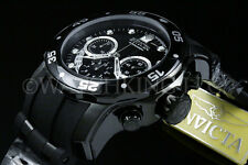 New Invicta Men Scuba Pro Diver Swiss Chrono Gunmetal Black Dial S.S Poly Watch