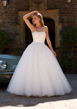 Savannah by Romantica Strapless Ivory Tulle Princess Style Wedding Dress UK 16