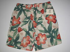 NWT Eddie Bauer Mens *L* Mesh Lined Swim Board Trunk Shorts Hawaii Tropical