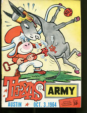 1964 Texas Longhorns v Army Football Program 10/3/64 Chase Ex 19988