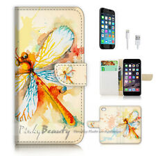 iPhone 7 PLUS (5.5') Flip Wallet Case Cover P3010 Dragonfly