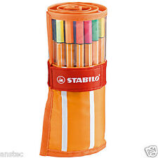 STABILO Point 88 Fineliner Ballpoint Pen Rollerset Art Wallet of 30