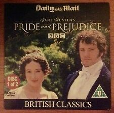 DVD - BRITISH CLASSIC - PRIDE AND PREJUDICE - DISC 1 only - NEWSPAPER PROMOTION