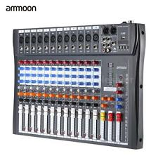 ammoon 120S-USB 12 Channel Mic Line Audio Mixer Mixing Console USB V3D4