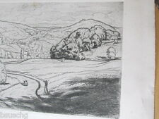 ANTIQUE ETCHING PRINT BY WALTER CONZ GERMAN ETCHER AND PAINTER
