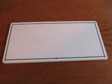 """Boat Dash BLANK PANEL flat square white for gauges switches 4-1/4""""x 9"""" (M-65)"""