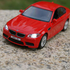 """BMW M5 5"""" Alloy Diecast Model Cars Toys Sound & Light Red Children's Gifts New"""