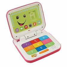 Fisher-Price Laugh & Learn Smart Stages LAPTOP, Baby ELECTRONIC TOY, Pink White