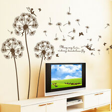 Dandelion Fly Removable Art Vinyl DIY Home Room Decor Wall Sticker Decal
